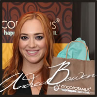 Andrea Bowen at the Emmys enjoying Cocopotamus Chocolate truffles