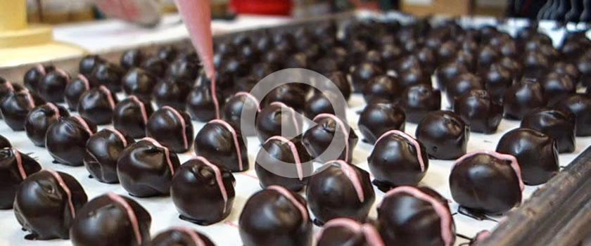making of best gluten free chocolate truffles