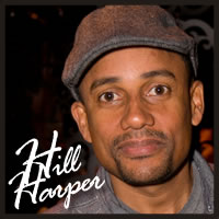 Hill Harper with best chocolate, best caramel, gluten free chocolate at the Golden Globe Awards for celebrities