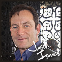 jason isaacs with best chocolate, best caramel, gluten free chocolates at the Golden Globe Awards for celebrities