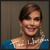 Teri Hatcher with best chocolate, best caramel at the Oscars, Academy Awards for celebrities